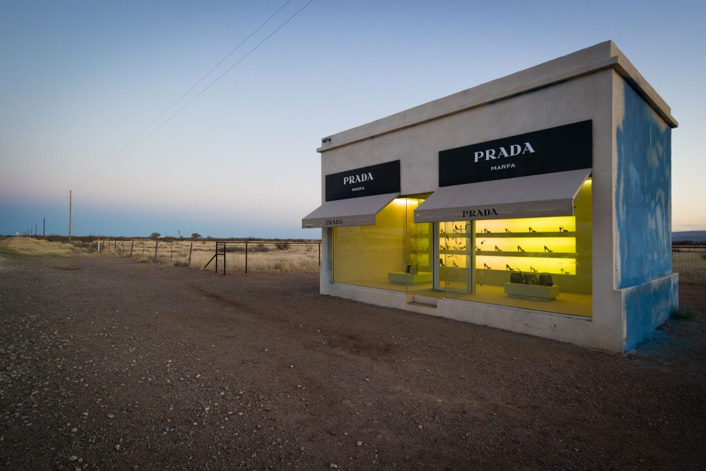 The remote Prada exhibit in Marfa, TX.